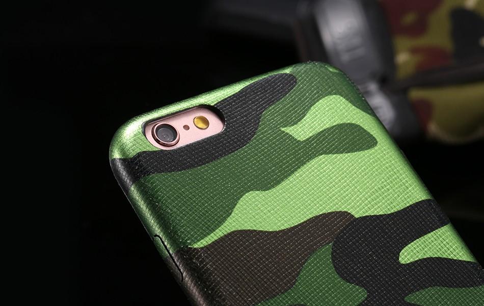 Dla iphone 7 5 5s se case wojskowy kamuflaż mężczyzn skórzane torby telefon sprawach dla iphone 7 7 plus pokrywa dla iphone 6 6s plus 5 5S se 16