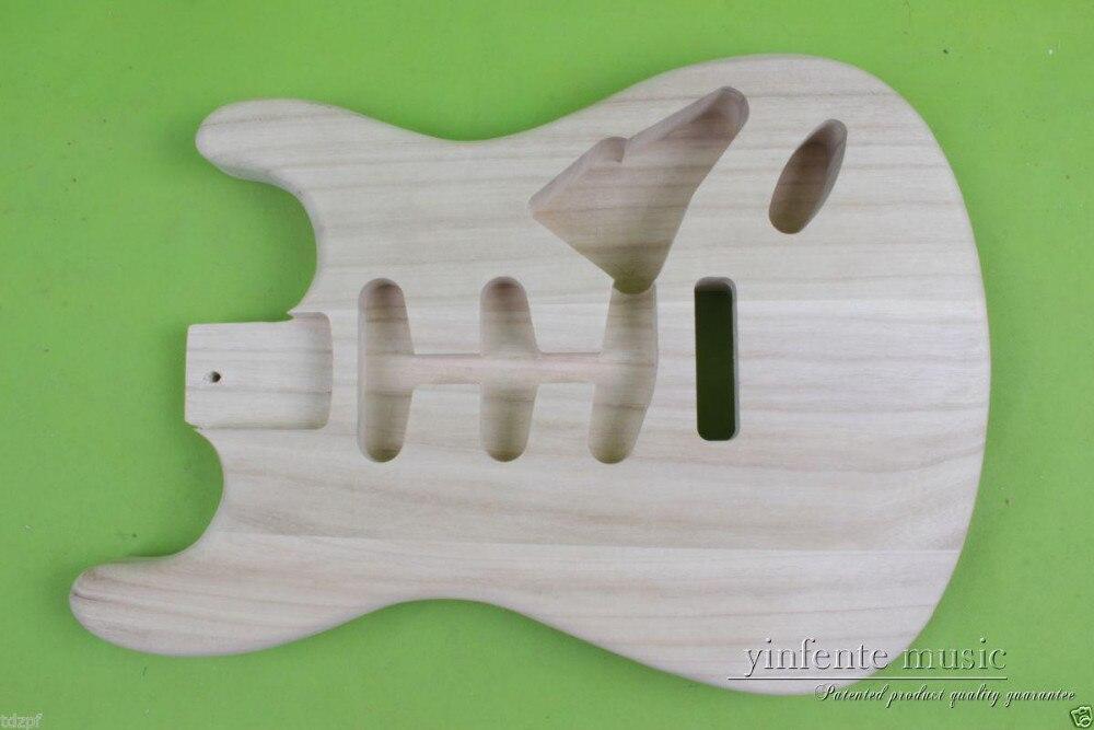 Nouveau corps de la guitare électrique Unfinished Paulownia poids Léger De Haute Qualité #858