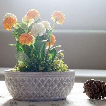 Silicone Flower pot molds concrete planter pot mold DIY garden planter mould