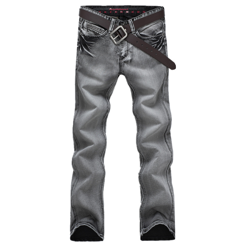 BOLUBAO Men   Jeans   Brand New Quality Cotton Skinny Straight Solid Color Casual Zipper   Jeans   Male Slim Black   Jeans   Pants