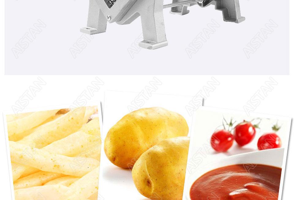 ST1 commerical manual aluminum die-casting potato chipper cutter potato chips cutting machine 7