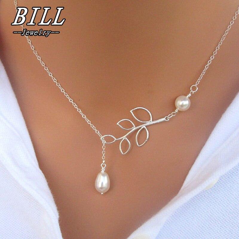 N617 модное жемчужное ожерелье с подвеской в виде листьев, имитация жемчуга, ожерелье в виде капель с крестом для женщин, ювелирные изделия, подарок, вечерние