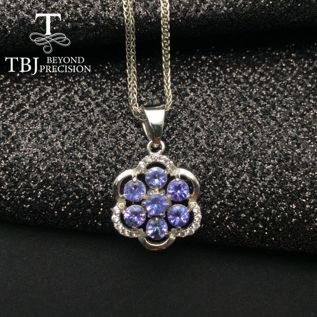 Tbj 100 natural tanzanite pendants 925 sterling silver with gift tbj 100 natural tanzanite pendants 925 sterling silver with gift boxnatural tanzanite aloadofball Images