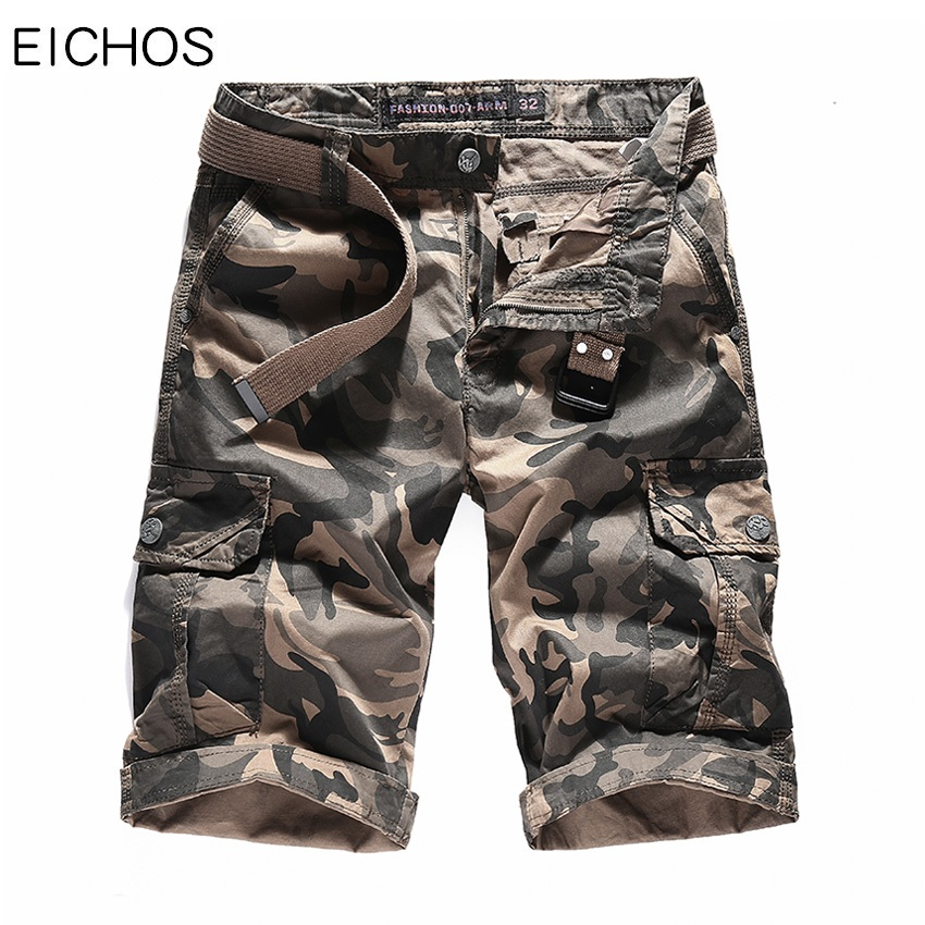 EICHOS New Camouflage Cargo Shorts Loose Man Cotton Casual Work Short Fahion Summer Styl ...