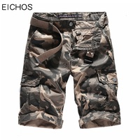 EICHOS New Camouflage Cargo Shorts Loose Man Cotton Casual Work Short Fahion Summer Style Straight Multi