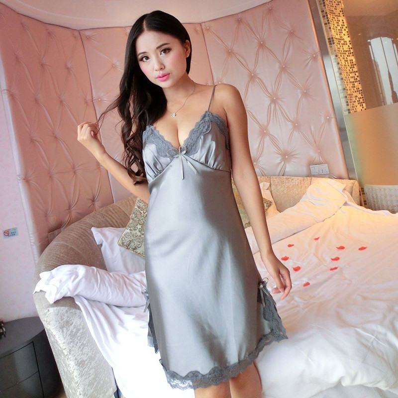 Hot Sexy Lingerie Silk Satin Sleepwear Women Baby Dolls -2190