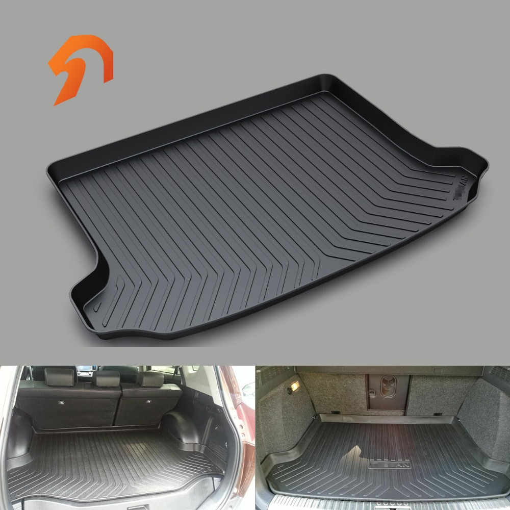 Fit for Volkswagen VW TIGUAN L MAGOTAN CC TOURAN L BORA GOLF67 Sportsvan BOOT LINER REAR TRUNK CARGO MAT FLOOR TRAY CARPET 1 18 масштаб vw volkswagen новый tiguan l 2017 оранжевый diecast модель автомобиля