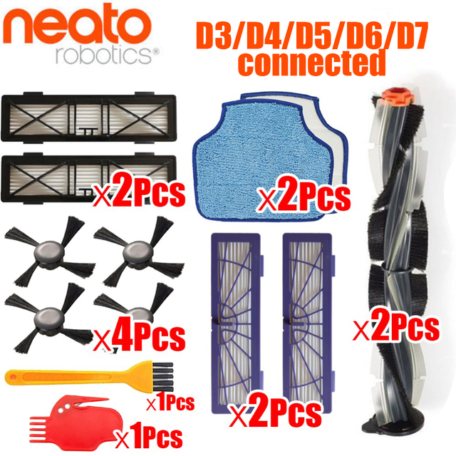 Generic combo Brush blade brush and bristle brush Beater for Neato Botvac D3 D4 D5 D6 D7 connected Vacuum Cleaners kit parts