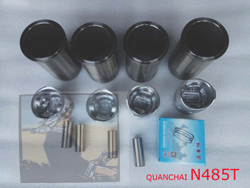 Piston group: piston, piston pin, piston rings, liners etc for Quanchai N485T engine, Part number: 408509000000 фото
