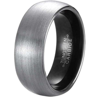 New Arrival 8mm Width Tungsten Rings For Men Women Comfort Fit Black Plated Inside Domed Round