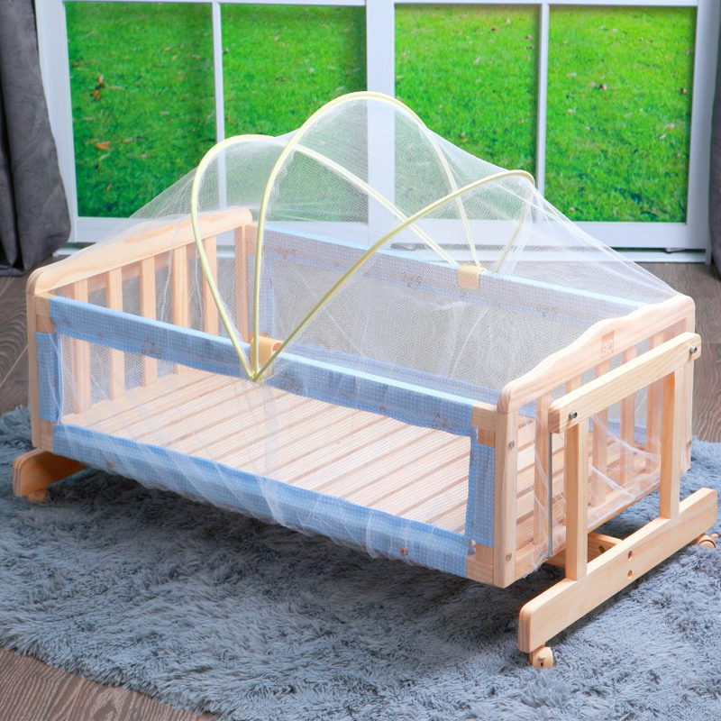 New Arched Large Size Baby Crib Netting Crib Summer Anti-Mosquito Insect Baby Cradle Crib Netting White Mesh Net 80-100cm Length