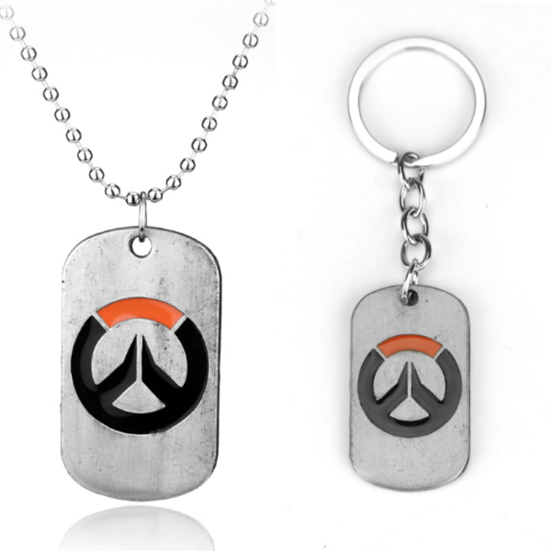 Game Blizzard Overwatch Dog Tag Necklace Overwatch Logo Metal Dog Tag Keychain