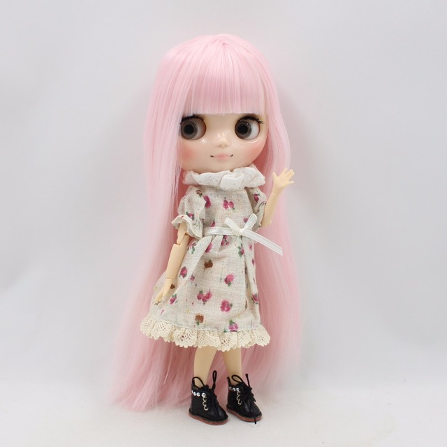 TBL Middie Blythe Doll Pink Hair Jointed Body 20cm