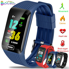 BANGWEI 2019 Smart Sport Bracelet Waterproof Fitness Wristband Blood Pressure Heart Rate Monitor Pedometer Information Reminder