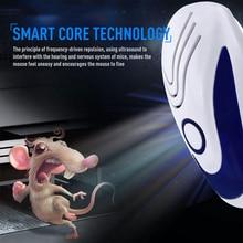 Ультразвуковой электронный отпугиватель грызунов, крыс, мышей, Отпугиватель против комаров, мышей, Отпугиватель грызунов, США, ЕС, вилка