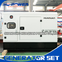 600kw large power generating options silent canopy sound attenuated enclosure