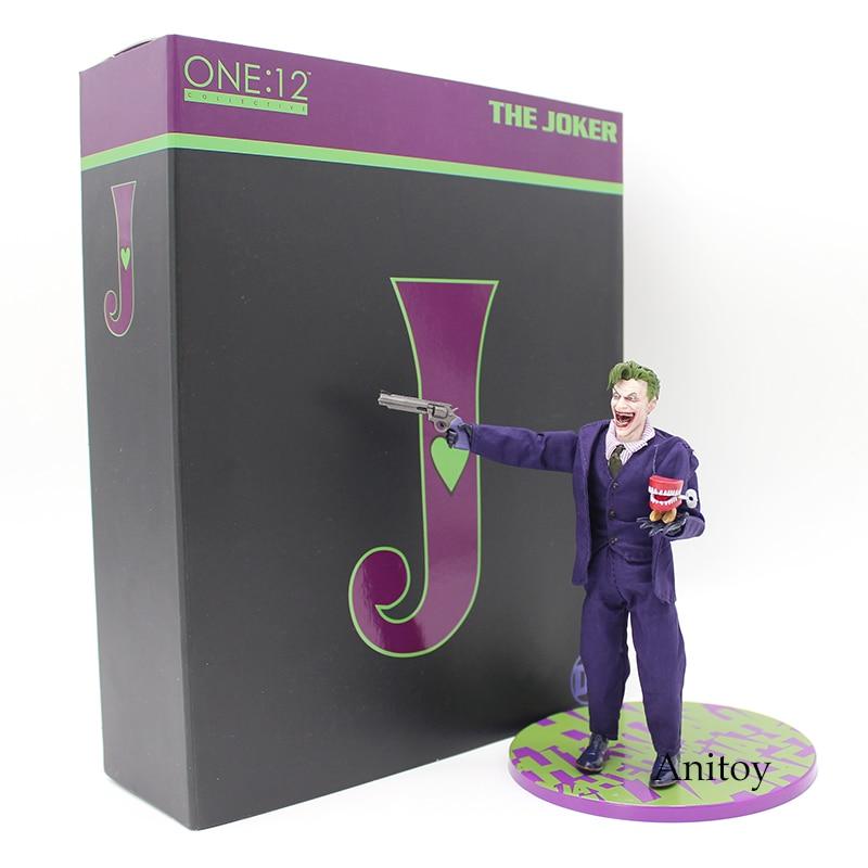 MEZCO Batman el Joker 1/12 escala PVC acción figura juguete modelo coleccionable (Real ropa) 16 cm