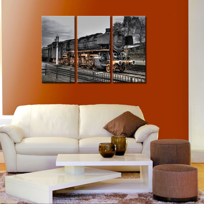 Train Wall Art online get cheap classic train canvas wall art -aliexpress