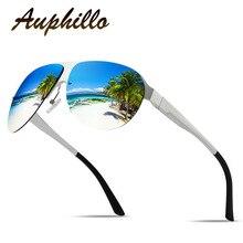 AUPHILLO Mens Sunglasses Brand Designer Aluminum Magnesium Semi-Rimless Men Polarized Driving Mirror Sun glasses 061