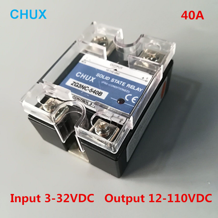 цена на Solid State Relay 40A Low Voltage 12-110VDC Input 3-32VDC DC to DC Single Phase SSR 540B