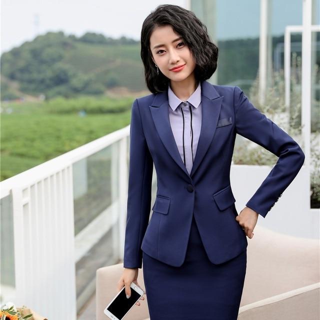 Aliexpress Com Buy New 2019 Formal Women Blazers And Jackets Blue