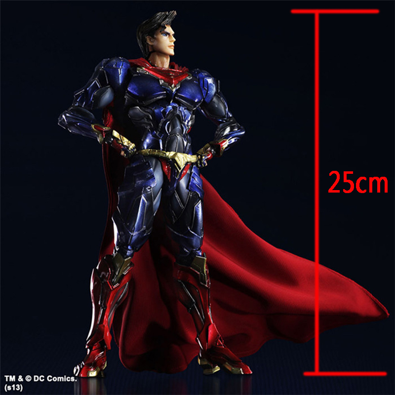 ФОТО Wolves World Superman Action Figure Play Arts Movable Justice League PVC Toys Anime Movie Model Superman Toys Kids Gift PA0026