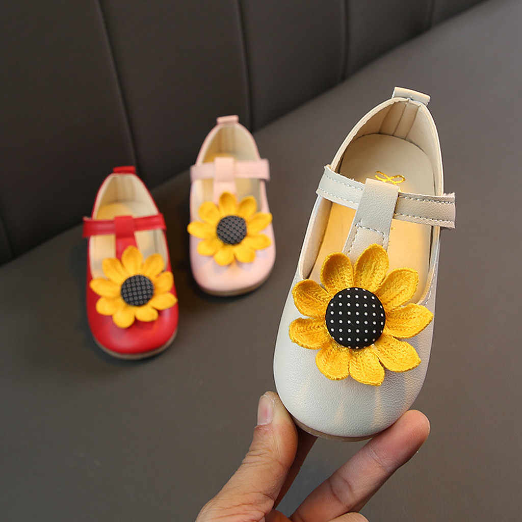 Toddler Children Girls Kids Shoes For Girl Baby Girl Kids Sneakers Princess Outdoors Sunflowers Breathable Shoes Kids Trainers