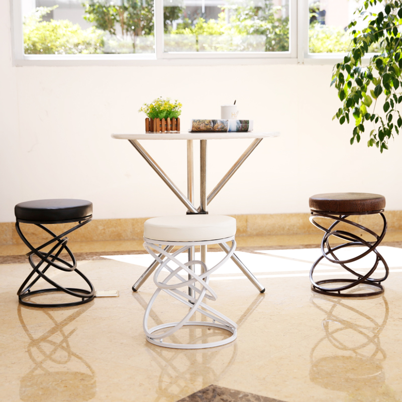 цена на Creative Metal Iron Wire Fashion Bar Stool Chair Stool Simple Leisure Chair