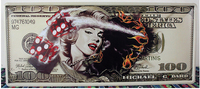 20x46CM US Dollar with Sexy girl Vintage Home Decor Tin Sign for Wall Decor Metal Sign Art Poster Retro Plaque\Plate