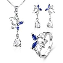 S016-A Fashion popular silver plated jewelry sets for sale