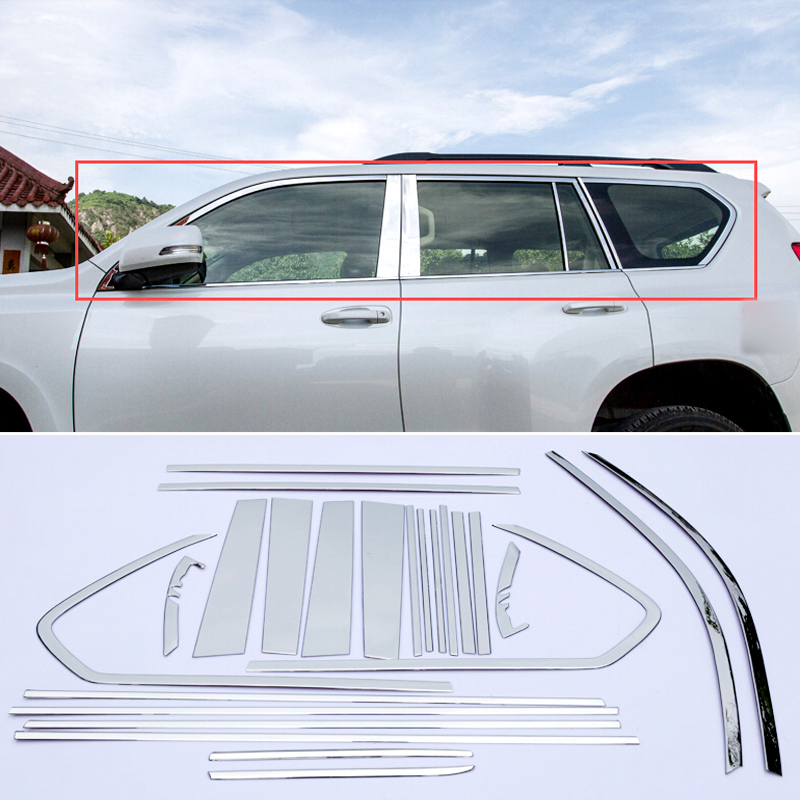 Window Center Pillar Post Cover TrimFor Toyota Land Cruiser Prado J150 2010-2016