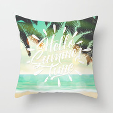 Fuwatacchi Summer Style Cushion Cover Green Tree Cotton Throw Pillow Decorative Pillows Flower