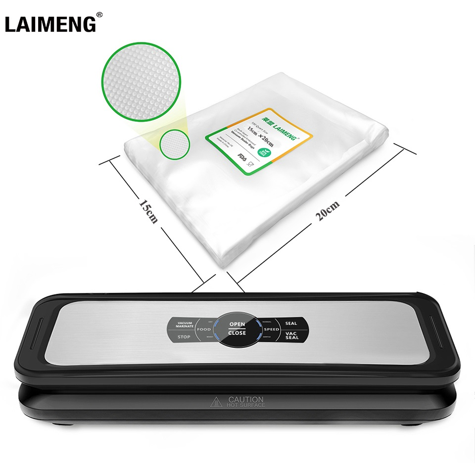 LAIMENG Automatic Vacuum Sealer Food  Sealing Machine Vacuum Packaging Food Grade Plastic Vacuum Bag Package Kitchen Packer S232