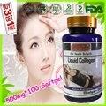 (Compre 3 y Obtenga 1 Gratis) IPL-GLUTATHIONE + CO Q10 + VITAMINA C + Líquido Colágeno Belleza Fórmula 500 mg X 100 cápsulas de Gelatina Blanda