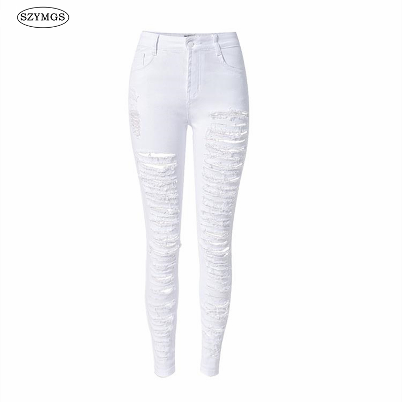 Online Get Cheap White Skinny Ripped Jeans -Aliexpress.com ...