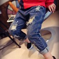 2-7años Niños Rotos Agujero Pantalones Pantalones 2015 Muchachas de Los Bebés Pantalones Vaqueros de Marca de Moda de Otoño Para Niños Pantalones Niños Ropa Jilly