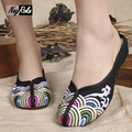 New waves embroidery Chinese slippers shoes women casual style black women slippers pantoffels dames flip flops shoes sandals