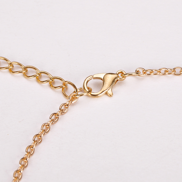 Footprints Paw Heart Love Chain Pendant Necklace  3