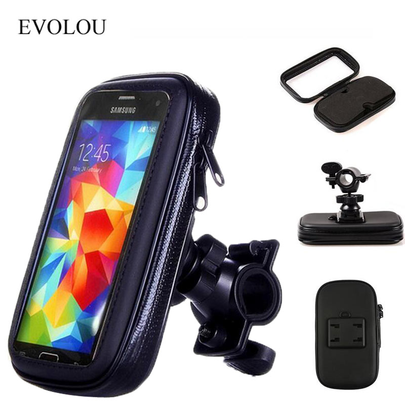 Image 2 - Bicycle Motorcycle Phone Holder telephone Support For Moto Stand Bag For Iphone X 8 Plus SE S9 GPS Bike Holder Waterproof Cover-in Phone Holders & Stands from Cellphones & Telecommunications