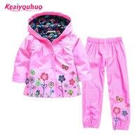 Hot 2016 Children Suit Hoodie Pants Children S Hoodies Children S Jacket Girl Suits Children Raincoat