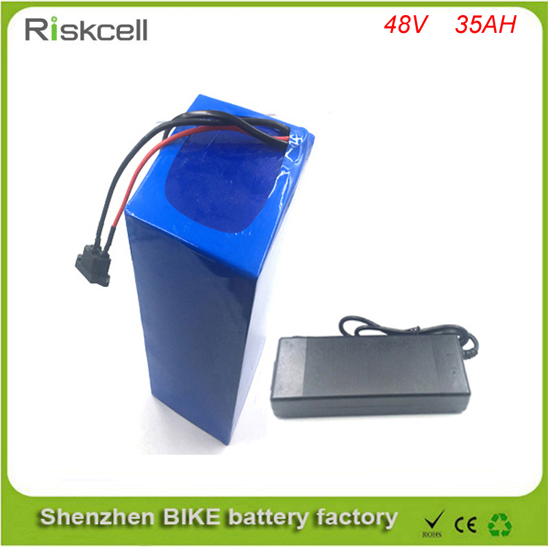 Free customes taxes 48v  2000w electric bike battery 48v 35ah lithium ion battery pack FOR Electric Bike with charger ,BMS free customs taxes high quality 48 v li ion battery pack with 2a charger and 20a bms for 48v 15ah 700w lithium battery pack