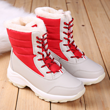 цена на 2018 Woman Shoes Big Size Winter Women Snow ankle Boots winter warm thick fur botas mujer waterproof Female Platform Boots 35-42