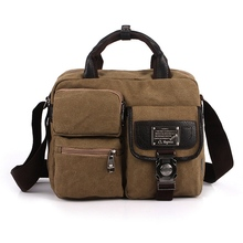 Popular Sale Men's Casual Travel Handbag Shoulder Bag Messenger Bag Men Canvas Briefcase Tote Classical Design bolsa masculina