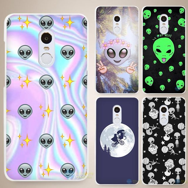 ET E T the Extra Terrestrial Hard White Cell Phone Case Cover for Xiaomi Mi Redmi Note 4 Pro 4A 4C 4X 5X 5 6