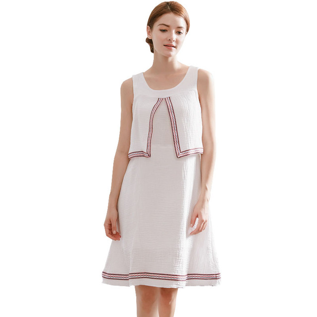 10afc4113 Sin mangas Vestidos para las mujeres embarazadas maternidad lactancia ropa  Vestidos Gestantes embarazo vestido