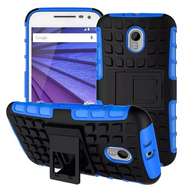 For Motorola Moto G3 Phone Case Hybrid Hard Shockproof Armor 2 In 1 With Stand TPU&PC Back Function Cover For MOTO G3 Case