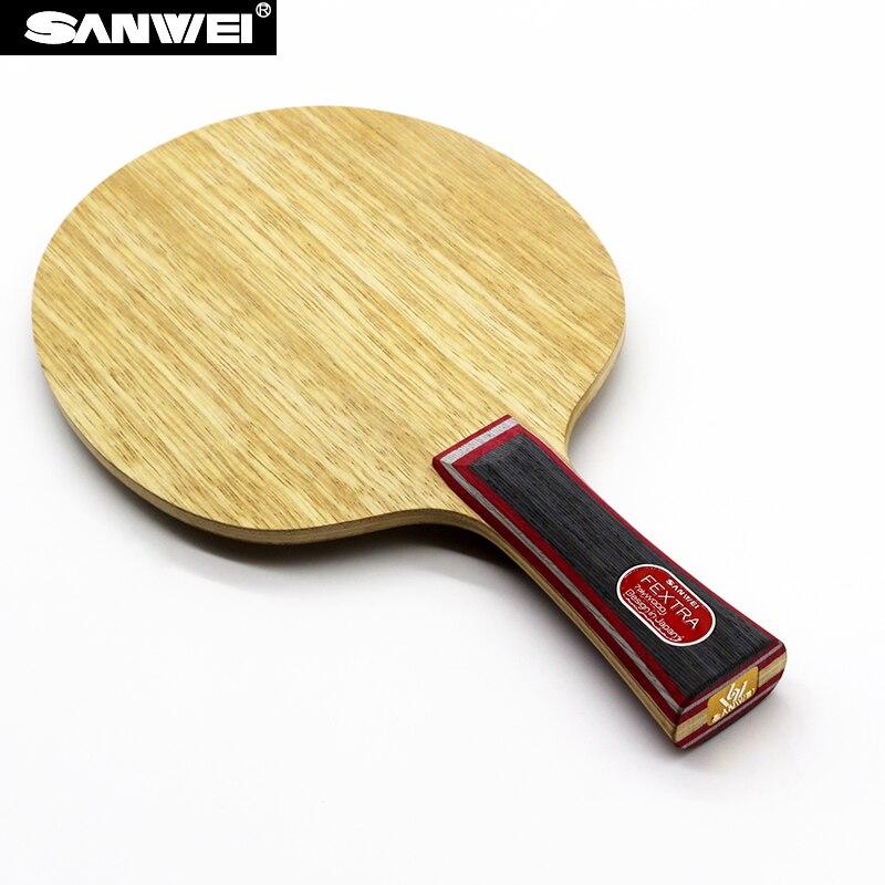 Sanwei FEXTRA 7 (Nordic VII) Hoja de tenis de mesa (madera de 7 capas, Tecnología japonesa, estructura STIGA Clipper CL) raqueta Ping Pong Bat Paddle