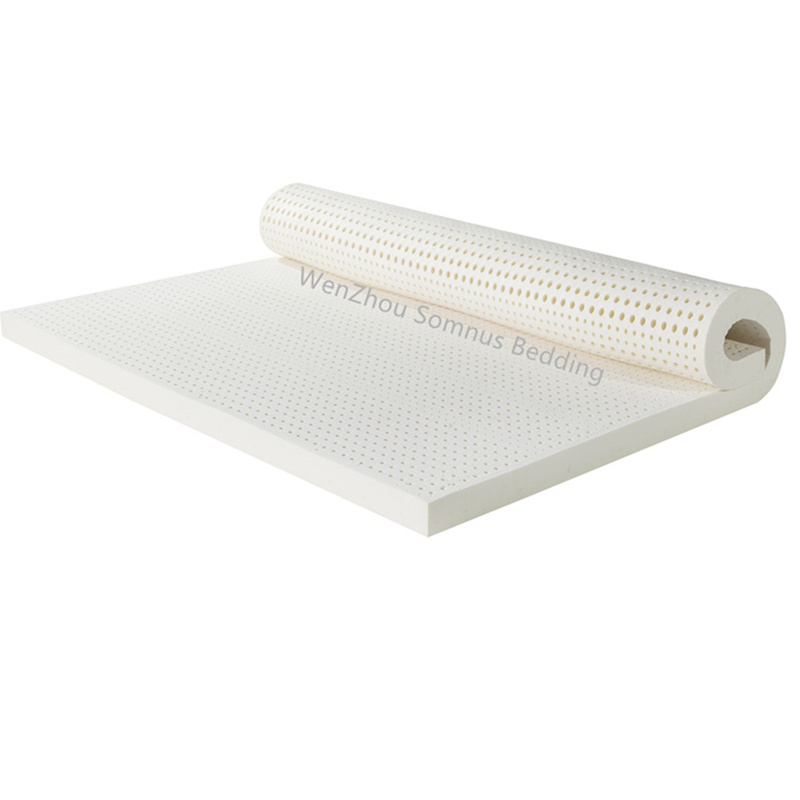 Israel Double Beds Ventilated Dunlop Seven Zone Mold 100%  Natural Latex Mattress  With A White Inner Cover  Medium Soft