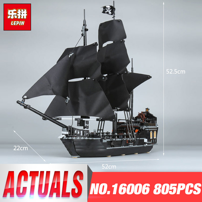 LEPIN 16006 Pirates of the Caribbean Black Pearl Dead Ship Building Blocks Bricks Children Toys Gifts LegoINGys 4184 4195 79008 lepin 16006 804pcs building bricks blocks pirates of the caribbean the black pearl ship legoing 4184 toys for children gift