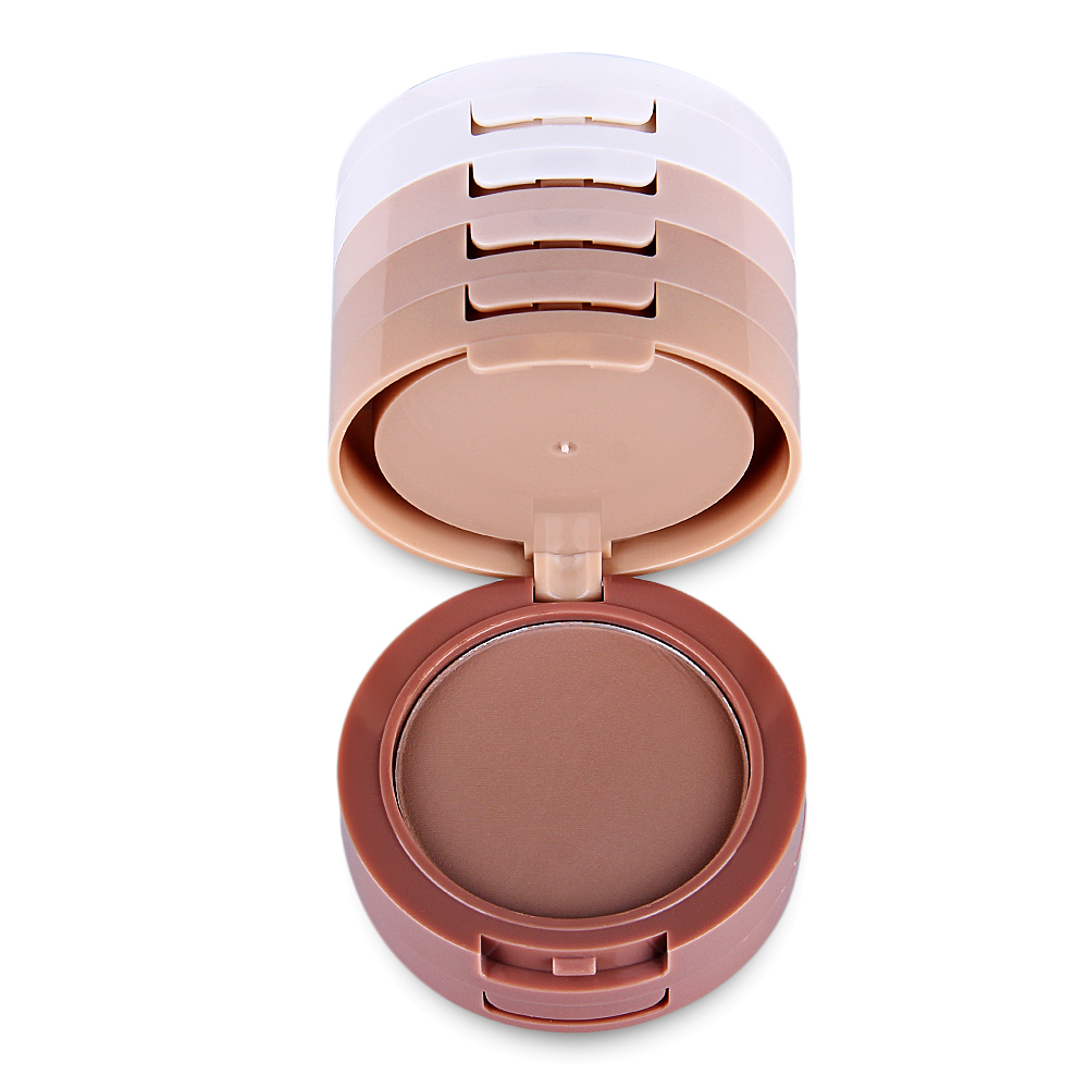 5 Layer Fabulous Dry Wet Pressed Face Makeup Powder Oil Control Contour Palette Skin Finish Natural